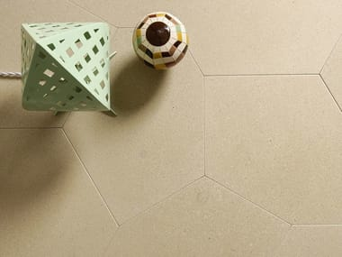 Natural stone wall/floor tiles PELLE D'UOVO POLIGONO6 GREIGE