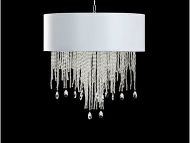 Indirect light pendant lamp with crystals ALICE | Pendant lamp