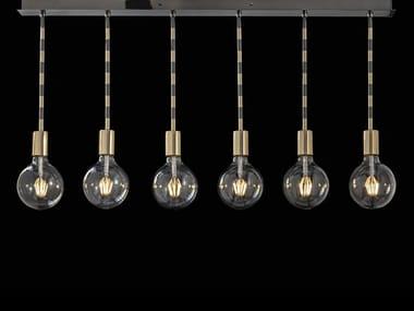 Lampada a sospensione a LED in ottone LOLITA | Lampada a sospensione