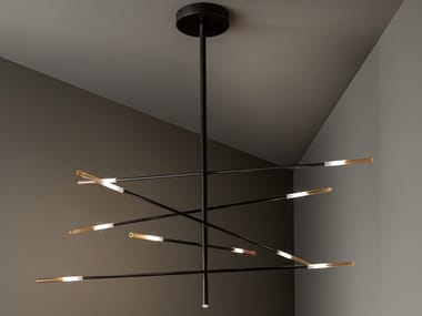 Painted metal pendant lamp CROSSROAD | Pendant lamp