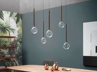 Borosilicate glass pendant lamp SOFÌ | Pendant lamp