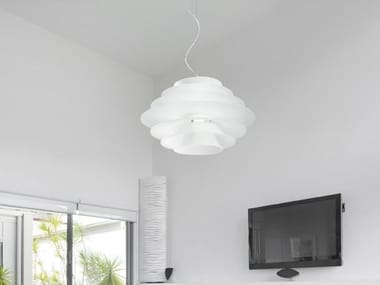Glass pendant lamp PLATES   Pendant lamp