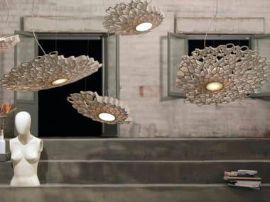 Lampada a sospensione a LED a luce diretta in marmo tecnico NOTREDAME | Lampada a sospensione