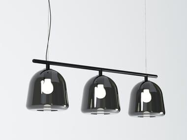 LED blown glass pendant lamp POLO 03