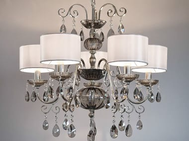 Direct light metal chandelier with crystals ANTIKA 5