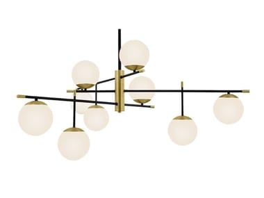 Suspension lamp in metal and frosted glass NOSTALGIA   Pendant lamp