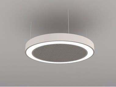 Pannello acustico a sospensione / lampada a sospensione NCM LA D600-900-1200FB | Lampada a sospensione