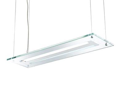 Lampada a sospensione in Pyrex® ACABA | Lampada a sospensione