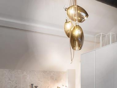 Lampada a sospensione a LED a luce diretta in vetro di Murano LAGOON | Lampada a sospensione