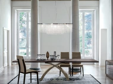 Pendant lamp with crystals SANTENA | Pendant lamp