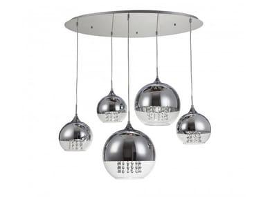 Metal pendant lamp with crystals FERMI | Pendant lamp with crystals
