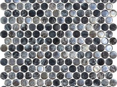Indoor/outdoor glass mosaic PENNY ARRECIFE IRIDIS GREY