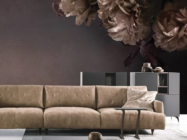 Panoramic wallpaper with floral pattern PEONIA