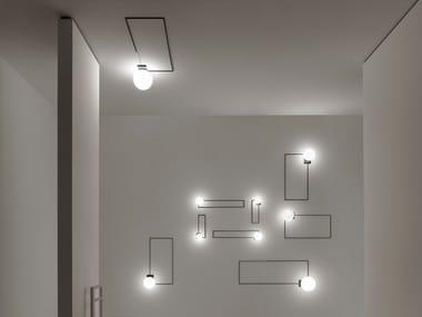 Glass and steel wall lamp / ceiling lamp PERIMETRO DI MULTIPLO