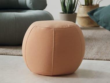 Round fabric pouf PERLA | Pouf