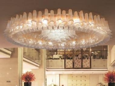 Lampada da soffitto in vetro di Murano PETALI 9008