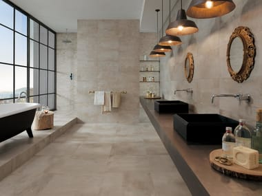 Full-body porcelain stoneware wall/floor tiles PETITOT ECRU