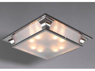 Lampada da soffitto a luce diretta fatta a mano in nichel PETITOT VII   Lampada da soffitto