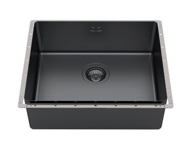 Built-in stainless steel sink PHANTOM EDGE 50X40 GUN METAL
