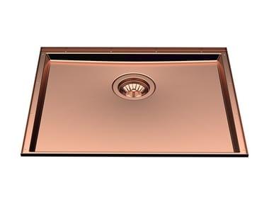 Undermount stainless steel sink PHANTOM BASE 50X40 COPPER