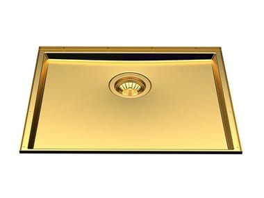 Undermount stainless steel sink PHANTOM BASE 50X40 GOLD