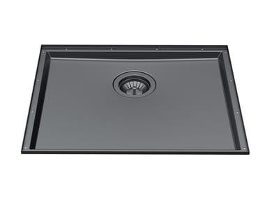 Undermount stainless steel sink PHANTOM BASE 50X40 GUN METAL