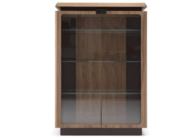 MDF display cabinet with integrated lighting PHANTOM | Display cabinet