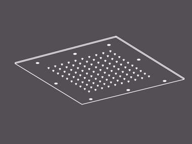 Tête de douche de plafond encastrable en acier inoxydable PIA1 | Tête de douche