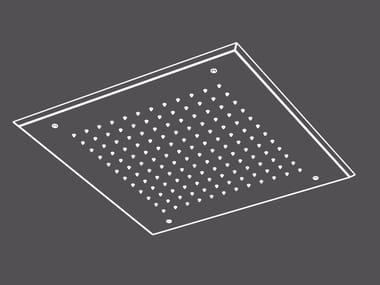 Soffione doccia a pioggia a soffitto da incasso in acciaio inox PIA51 | Soffione doccia
