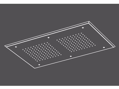 Soffione doccia a pioggia a soffitto da incasso in acciaio inox PIA52 | Soffione doccia