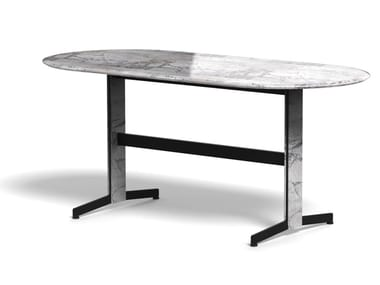 Oval marble table PIANA MARBLE L