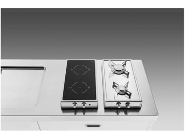 Gas induction countertop stainless steel hob Flip-up hobs