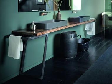Piano lavabo in rovere PIANO I