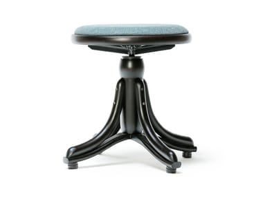 Wooden stool PIANO   Stool with integrated cushion