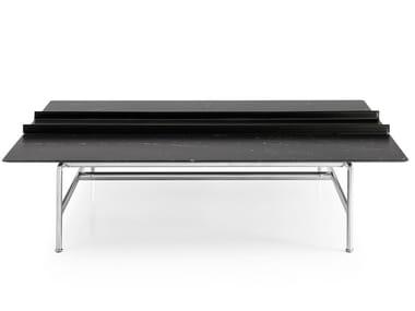 Rectangular marble coffee table PIANURA