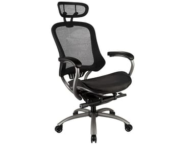 Mesh executive chair with 5-spoke base with headrest PICASSO