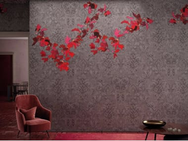 Washable vinyl wallpaper with floral pattern PICCADILLY