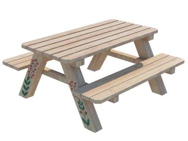 Tavolo rettangolare in legno PICNIC | Tavolo