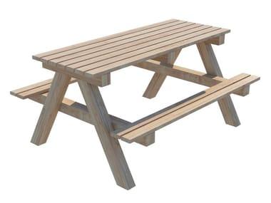 Tavolo da giardino rettangolare in abete PICNIC | Tavolo da giardino