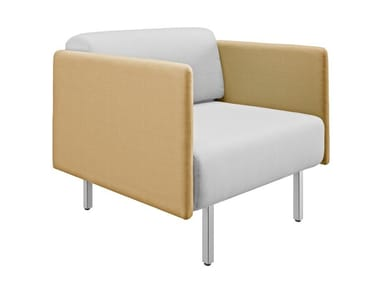 Fabric armchair with armrests PIEM | Armchair with armrests