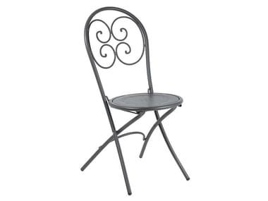 Sedia da giardino pieghevole in acciaio PIGALLE | Sedia pieghevole