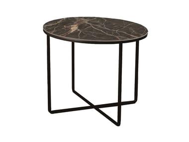 Mesa de centro redonda de cerâmica PIKTOR | Mesa de centro de cerâmica