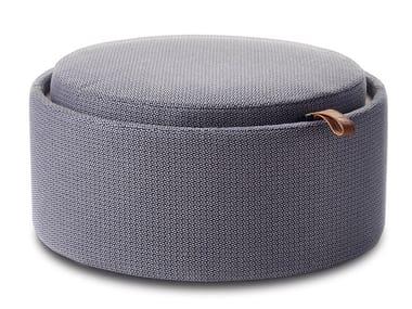 Storage upholstered fabric pouf PILL | Fabric pouf