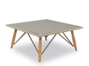 Tavolino basso da caffè da giardino in corda PIMLICO | Tavolino