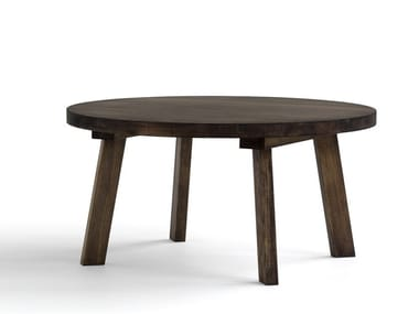 Round pine coffee table PINZO | Round coffee table