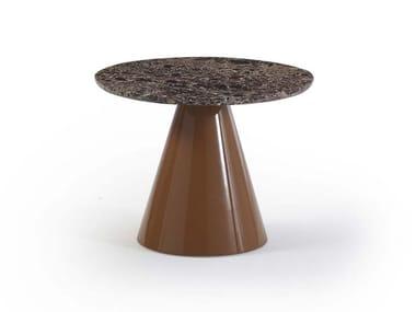 Tavolino rotondo in marmo PION | Tavolino in marmo