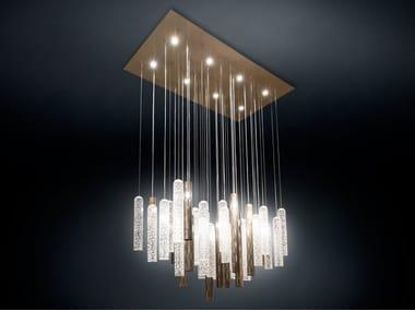 LED Murano glass pendant lamp PIPE LIGHT | LED pendant lamp