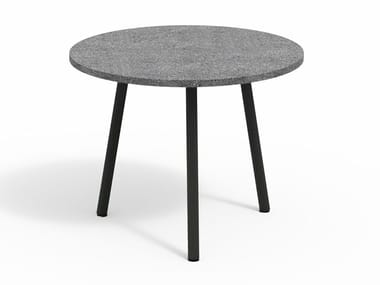 Low stone garden side table PIPER 013 | Stone coffee table