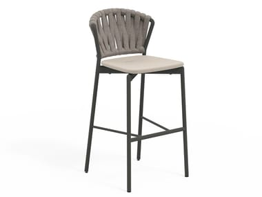 High stool in aluminum and resin PIPER 250 | Stool