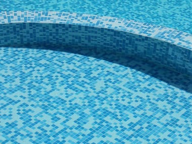 Glass mosaic PISCINE
